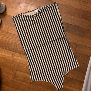 Navy and Creme Striped Bodysuit